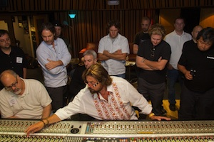 Alan Parsons at the board